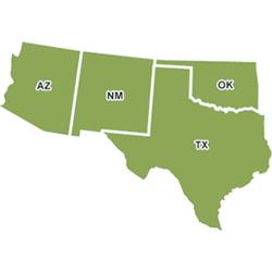 Map Southwest
